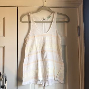 White tank with lace detail